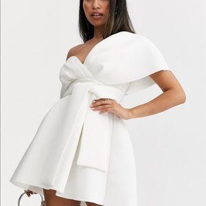 ASOS Design Petite Fallen Shoulder Mini Dress